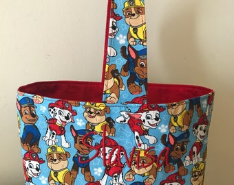 SALE****** Paw Patrol Fabric Easter Basket/Trick or Treat bag