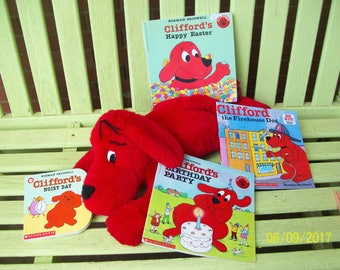 Clifford Collection -  19 inch stuffed Clifford - 4 Clifford books