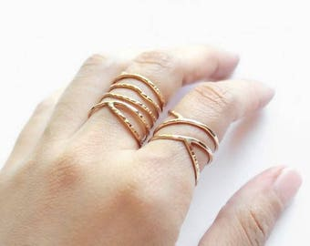 Jewelry- Rings-Stacking rings - gold ring-dainty gold ring-promise ring-thin gold ring-stack ring-friendship ring-stackable rings
