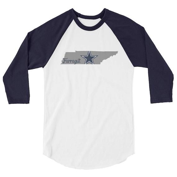 Farragut Tennessee High School Middle Star State Tshirt 3/4 sleeve raglan shirt