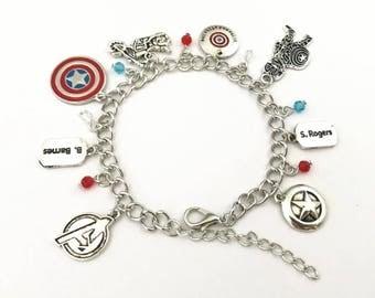 Captain America / Winter Soldier inspired charm bracelet