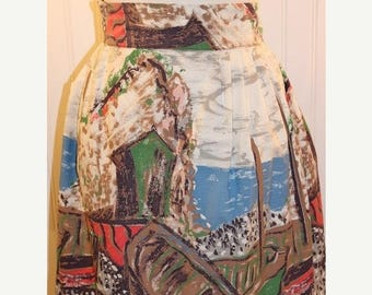 60% OFF Clearance Sale Vintage Half Apron Abstract  Pattern