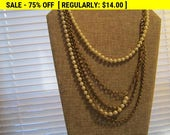Heavy multi strand chain bead necklace, statement necklace, hippie, boho, estate jewelry