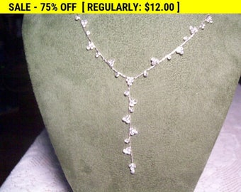 Pretty Rhinestone necklace, wedding, party, estate jewelry