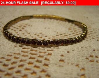 Topaz rhinestone bracelet, fashion bracelet, vintage bracelet