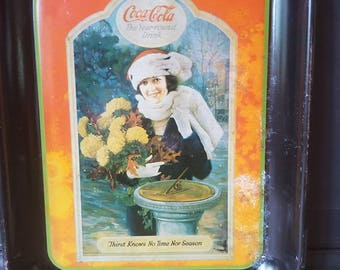 Vintage Coca Cola Tray, Advertising, Memorabilia, Collectible, Home Decor