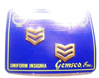1 Pair of Goldplated U.S. Military Master Sergeant Insignia Pins