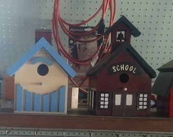 Hand painted birdhouses