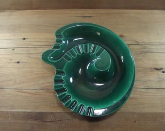 Mid Century Spiral Green Ashtray Royal Haeger Nautilus