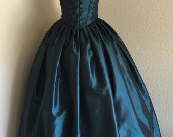 Custom 2 Piece Civil War Ball Gown - Southern Belle Costume - Reenacting Clothing - Historical Dress - Victorian Dress - Womens Costume - Wa