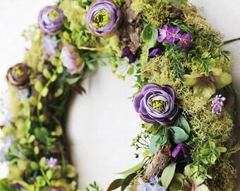 Wreaths for front door - spring wreath - wreath for spring - door wreath - outdoor wreath - wreath for front door - welcome wreath