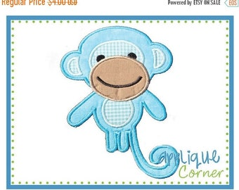 50% Off 060 Monkey with Tail M2M Fabric applique digital design for embroidery machine by Applique Corner