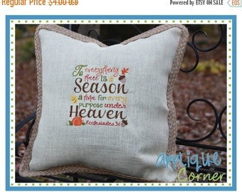 40% OFF INSTANT DOWNLOAD To Everything There is a Season Thanksgiving applique digital design for embroidery machine by Applique Corner