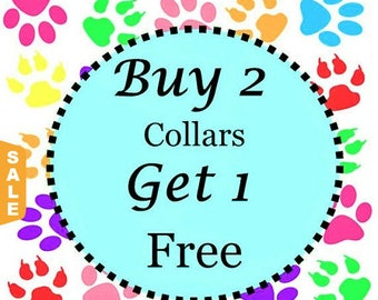 Puppy Love Sale - 40% Off Buy Two Standard Collars - Get One Free Standard Collar