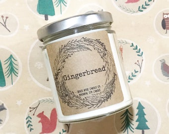 Soy Candle, Soy Wax Candle, Natural Soy Candle in our GINGERBREAD Scent, Autumn Soy Candle, Fall Candle