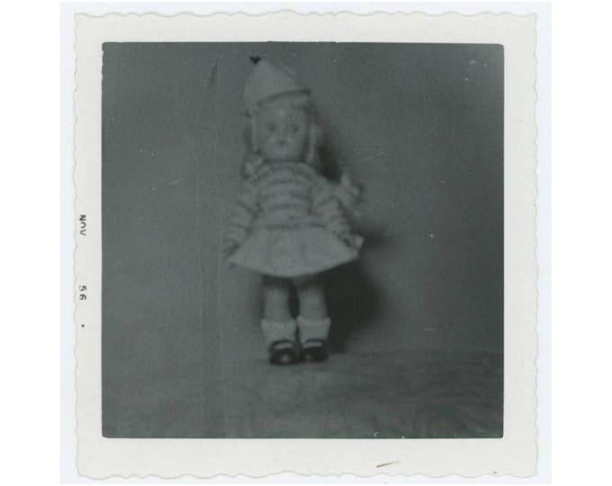 Vintage Photo Snapshot: Doll, 1956 (76589)