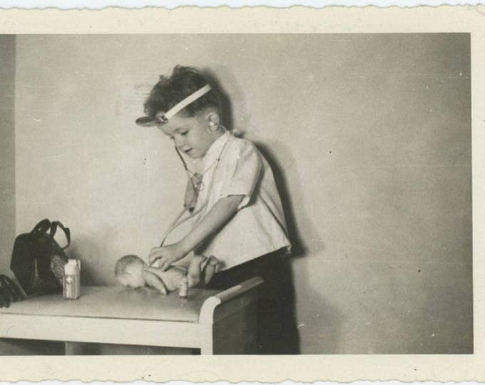 Vintage Snapshot Photo: Young Doctor, c1940s (79605)