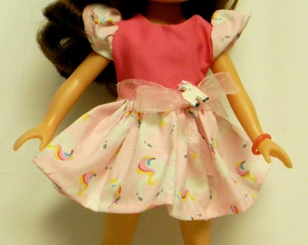 Unicorn Outfit For 14.5 Inch Doll Like The Wellie Wishers