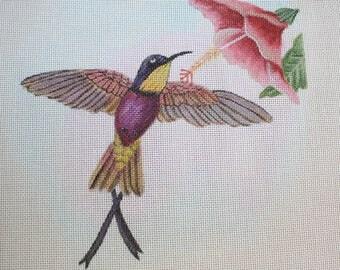 Topaza Pella Hummingbird Sharon G Handpainted Needlepoint Canvas BIRD3 Free Shipping