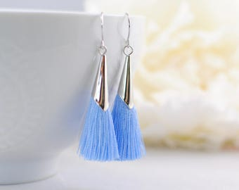 The Delia Earrings - Blue