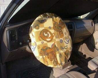 Free shipping! Horse themed reversible steering wheel cover for the desert heat. Don't burn your fingers!