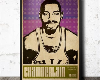 Wilt Chamberlain Basketball Sports Art Poster