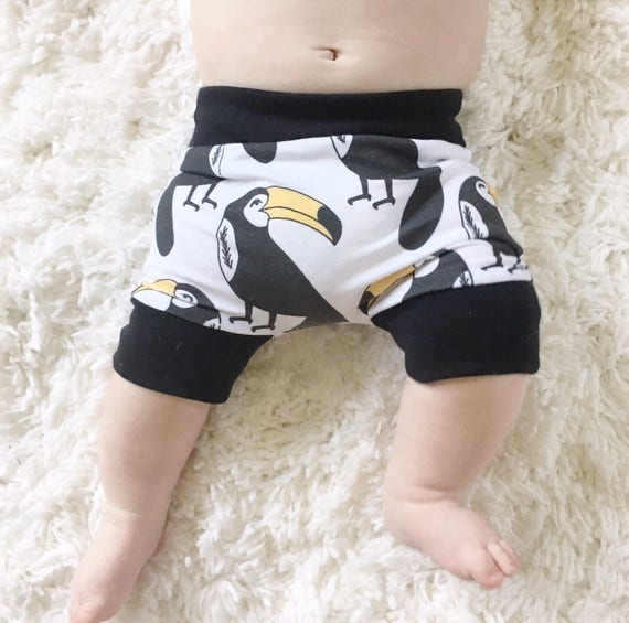 Handmade Hipster Baby Shorts | Baby Shorts | Baby Harems | Harem Shorts | Baby Girl Shorts | Baby Boy Shorts | Tropical Toucan