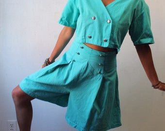 Late 80s early 90s 2 pc skort suit