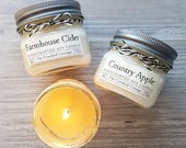 Winter Candle Collection • 5oz Soy Candles • Choose your Scent • Farmhouse Candle • Shiplap • Apple Pie • Snow Day • Timberline • Pear
