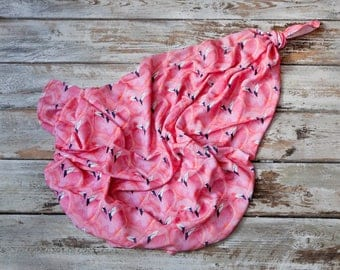 Bamboo swaddle Flamings, exotic, pink flamingos