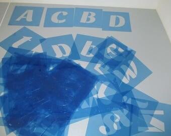 """Alphabet Stencil - Thick 2"""" Alphabet stencil"""