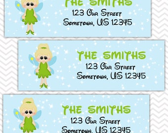 Tinkerbell - Fairy -  Personalized Address labels, Stickers, Baby Shower, Birthday