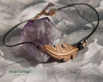 Wooden Feather Necklace, Carved feather, Flying feather, Wooden jewelry, Unique wooden jewelry, Bohemian feather necklace