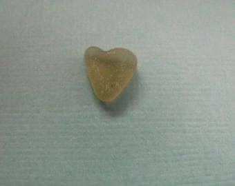 Sea glass heart sea foam glass heart
