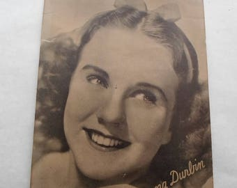 ON SALE Vintage Young Deanna Durbin 1930's Photo In A Stand Up Frame