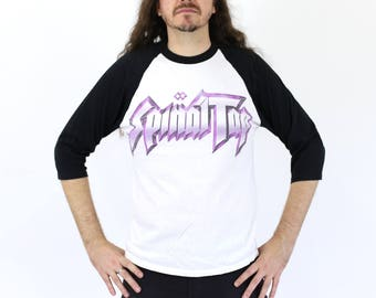 "Vintage 1980s This is SPINAL TAP Baseball Tee ""Turn it up to 11!"""