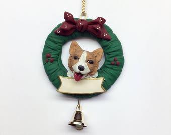 Corgi Personalize Christmas Ornament Handmade