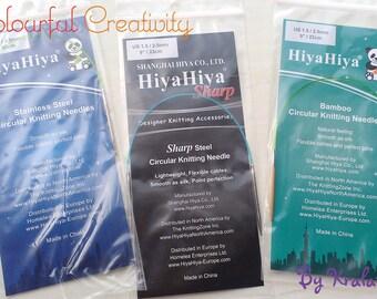 23cm - 2.5mm/US 1.5 - Hiyahiya circular knitting needles