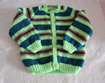 Baby/ToddlerCardigan Jacket Unique Hand Knitted 20-22 Inch 12-18 Months