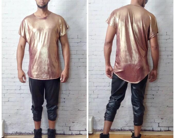 Metallic Drop Shoulder T-Shirt
