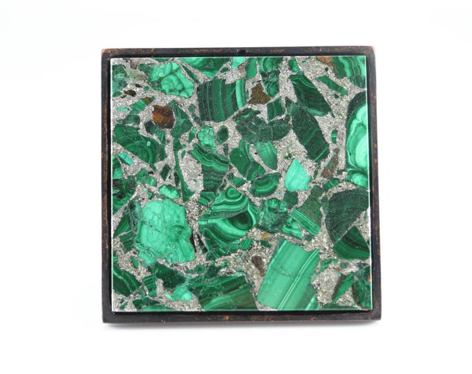 Large Square Knob--Million Dollar Malachite