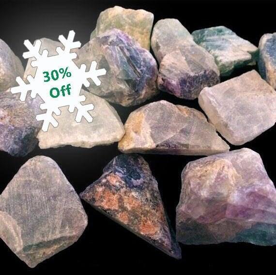 Raw Rainbow Fluorite Multi-color Mineral Crystal Healing Meditation