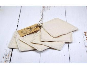 Wipes washable reusable eco-friendly economic cotton organic set of 6