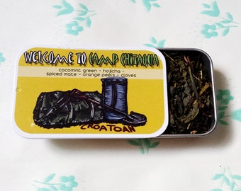 Limited Fandom Inspired Supernatural Tea Tin- Welcome to Camp Chitaqua