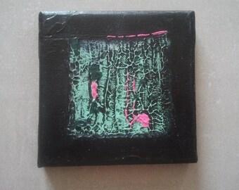 """Mini table 12/12 cm green """"square stretch"""" 2013-3"""