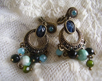 Vintage Silver/Marquisette Clip On EARRINGS