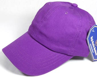 Your Print Purple Dad Hat Baseball Cap Twill 6 Panel Custom Embroidery Low Profile Pro Style