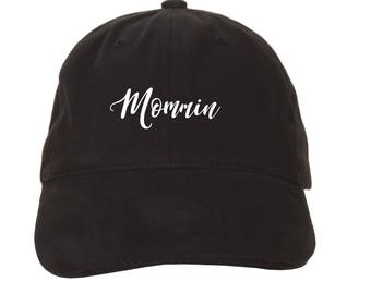 Mommin Embroidered Adjustable Dad Baseball Cap Twill 6 Panel Hat