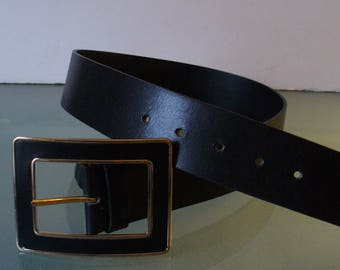 Vintage Banana Republic Made in Italy Heavy Leather Belt Size XS