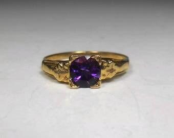 Amazing Antique Alexandrite Otsby and Barton Ring